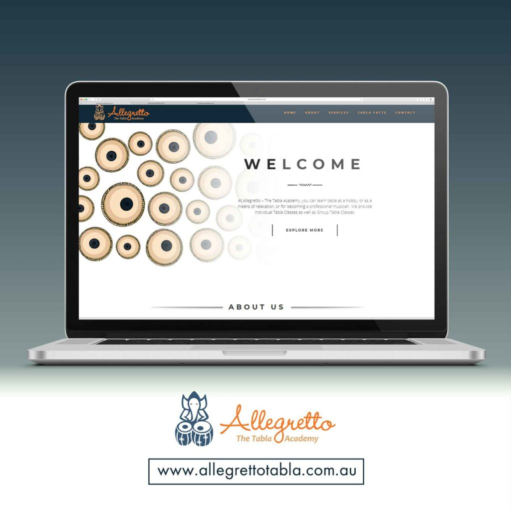 <h4>Allegretto Tabla Academy<br/> Web Design</h4>
