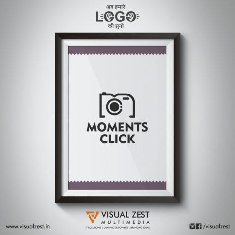 <h4>Moments Click Photography<br/>Logo Design</h4>